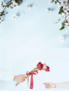浪漫情人节海报背景设计