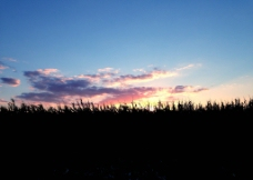 秋天的落日图片