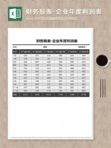 财务报表-企业年度利润表