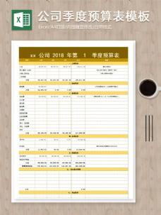 公司年度季度预算项目明细记录excel表模板