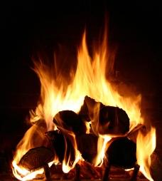木柴火焰图片