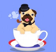 咖啡杯里的优雅哈巴狗