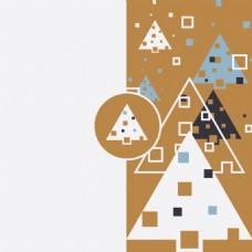 几何圣诞树设计图矢量素材