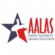 AALAS公司兔子LOGO红灰字母设计