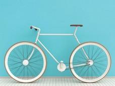 概念折叠自行车
