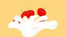 鮮果牛奶圖片