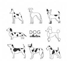 八只卡通斑点狗