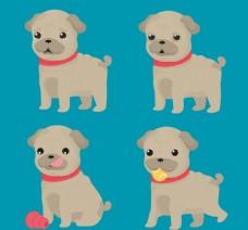 卡通可爱的狗狗