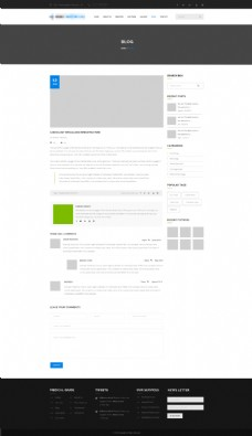簡潔的企業商城購物網站之個人博客詳情