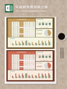 年度财务费用统计季度收支利润分析excel图表