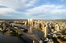 鸟瞰城市建筑效果图分层文件