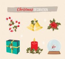 六件圣诞装饰品