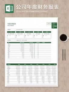 公司年度财务报表关键指标记录