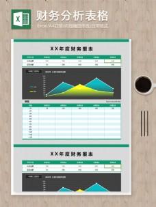 年度财务分析项目月度数据分析excel报表