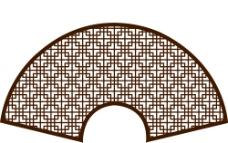 古典扇形花纹图