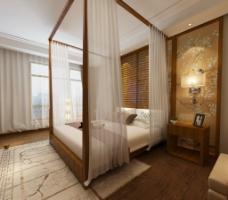 现代简中卧室图片