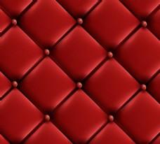 红色沙发皮革背景矢量素材