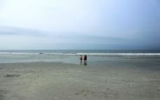 北海银滩早晨时光图片