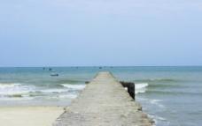 北海银滩海堤图片