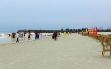 北海银滩雨后景观图片