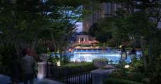 小区游泳池图片