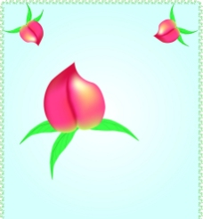 AI矢量手繪桃子圖片