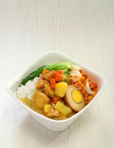 咖喱鸡肉饭图片