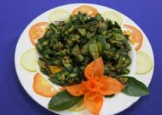 脆黄瓜炒肉末图片