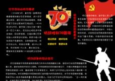 抗战胜利70周年黑板报图片