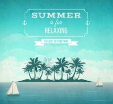 夏季度假 岛屿海报图片