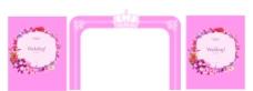 粉色婚禮圖片
