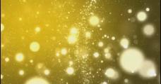 黄色粒子视频素材