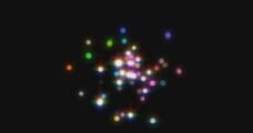 粒子发光特效视频素材