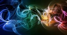 彩色煙霧圖