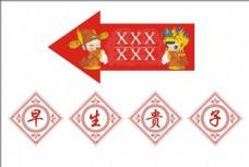 中式婚禮指引牌 KT板